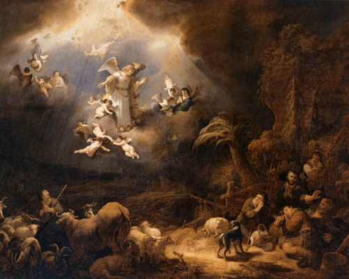 Angels Announcing the Birth of Christ to the Shepherds - Flinck, Govert Teunisz. 1639